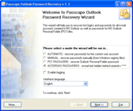 Passcape Outlook Password Recovery screenshot